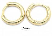 F-E6.3 E1934-003 S. Steel 15mm Hoop Gold