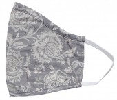 S-I6.4 Face Mask Cotton - Washable - Embroidered - Grey