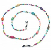 D-A6.3 GL586  Sunglass Chain Beads Multi Color