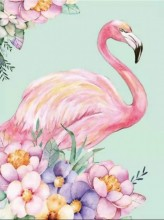 S-F3.1 Q432 Diamond Painting Set Flamingo 30x20cm