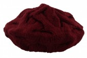 R-A3.1  Knitted Beanie Bordeaux Red