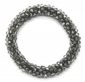 A-E2.1 B008-001E Bracelet with Faceted Glass Beads Grey