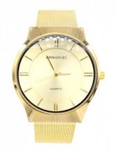 D-C7.3 W001-035 Metal Quartz Watch 40mm Gold