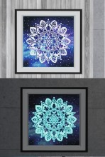 R-K8.1 YGSM40 Diamond Painting Full Set Glow In the Dark 35x25cm