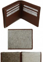 S-A2.4 Leather Wallet with Cowhide 11.5x9x2cm