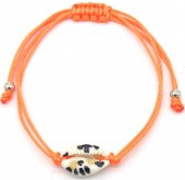 D-C7.1  B2001-057E Bracelet with Leopard Shell Orange