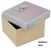 Y-E6.1 PK424-076 Giftbox for Watches 9x9x6cm Silver 6pcs