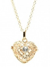 A-A17.1  Angel Catcher Heart 16mm Gold