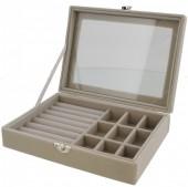 T-J6.1 PK424-075 Luxury Jewelry Box 20x15x5cm Grey