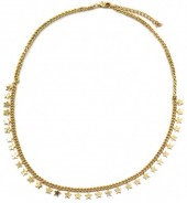 C-E23.1 N426-006G Necklace Stars Gold