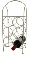 Y-F1.4  Metal Wine Rack for 6 Bottles 52cm White