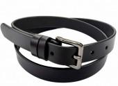 S-F8.1 22171 Leather Belt Black 2.5x105cm