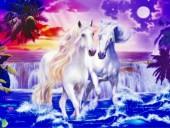Y-A3.3  S284 Diamond Painting Set Horses 50x40cm