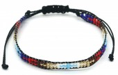 A-C17.4 B2039-017A Bracelet with Glassbeads Black-Multi