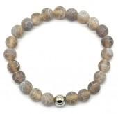C-A17.2 B2121-001 Cracked Agate Bracelet Grey