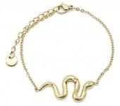 E-F19.2 B220-020 S. Steel Bracelet Snake Gold