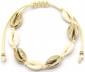 C-C9.2 B2001-032 Bracelet with Shells Gold-Beige