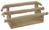 Z-F2.1 PK522-013 Wood with Jute Ring Display 3  Layers 20x11x10cm