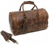 Z-D2.3 Vintage Leather Duffle Bag 50x27x24cm Brown
