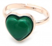 D-D4.5 R1934-009 Adjustable Ring Malachite Rose Gold