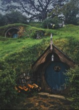 T-H4.2 S882 Diamond Painting Set Hobbit House 50x40cm
