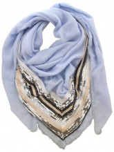 K-F5.3 S005-002 Luxury Scarf with Sequins 140x140cm Blue