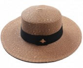 Q-D2.2 HAT504-002B Hat with Glitters and Bee Brown