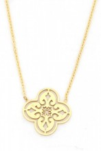 C-D17.3  N016-005 Stainless Steel Necklace Geometric Gold