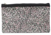 S-J6.1 BAG1824-005 Make Up Bag with Leopard Print and Tassel 22x13.5cm Pink