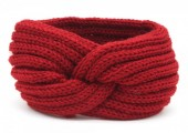R-G2.1 H401-001K Knitted Headband Red