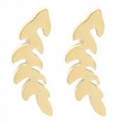 B-C21.3 E2065-066G S. Steel Studs Feather 12mm Gold