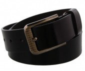 S-B6.3 Grain Leather Belt 3.3x110cm Adjustable 91-101cm