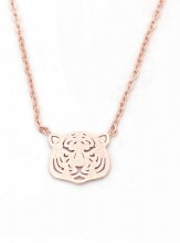 F-B2.3 N301-002 Stainless Steel Necklace Tiger Rose Gold