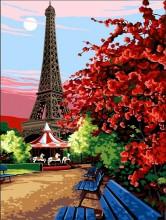 Y-B6.3 MS7368 Paint By Number Set Paris 50x40cm