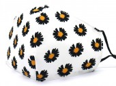 B-D10.1 SKA528 Cotton Fashion Mask with Room for Filter Washable - Flower White