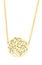 C-E17.5  N016-005 Stainless Steel Necklace Geometric Gold