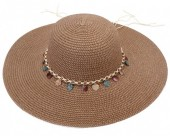 Y-F1.4 HAT210-002C Hat with Shells 43cm Brown