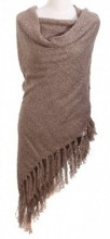 Z-C3.6 Square Scarf with Tassels 140x140cm Brown