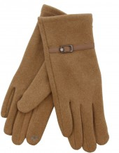 S-C2.2 GLOVE403-004A Soft Gloves with PU Strap and Crystal Brown
