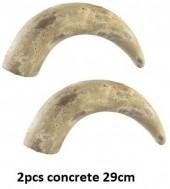 Concrete Horn 29cm PTMD 2pcs