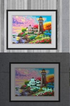 T-P8.1 YGSM38 Diamond Painting Full Set Glow In the Dark 35x25cm