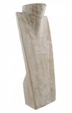 Z-C3.1 XL Wooden Necklace Display White 50x16cm