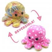R-K4.1 T1209-001 Reversible Octopus 20cm Shiny Pink-Yellow