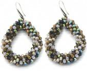 A-E20.3 E007-001 Facet Glass Beads 4.5x3.5cm Multi Color