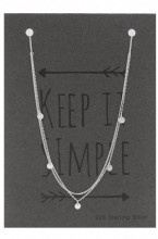 B-C17.1 SN104-010 Layered Necklace 925 Sterling Silver with Coins