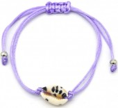 D-B4.1 B2001-057G Bracelet with Leopard Shell Purple