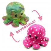 R-K3.2  T1209-001 Reversible Octopus 20cm Shiny Pink-Green