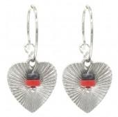 F-A3.3 E2019-035S Earrings Heart 1.5x3cm Silver