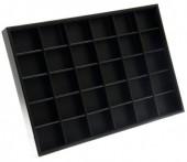 Y-F6.5 Display Box with 24 cabinets 35x24x3cm Black PU