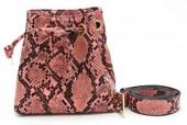 T-D2.2 BAG202-002 Pouch Belt Bag Snake 15x15x7.5cm incl 90cm Belt Pink